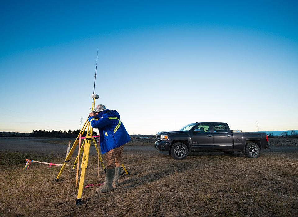 Regina surveyor and truck