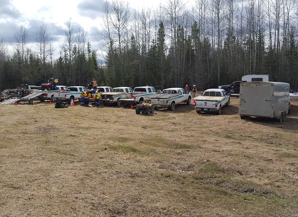 Fort St. John McElhanney Trucks and crew