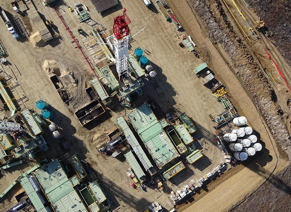 Oil sands aerial
