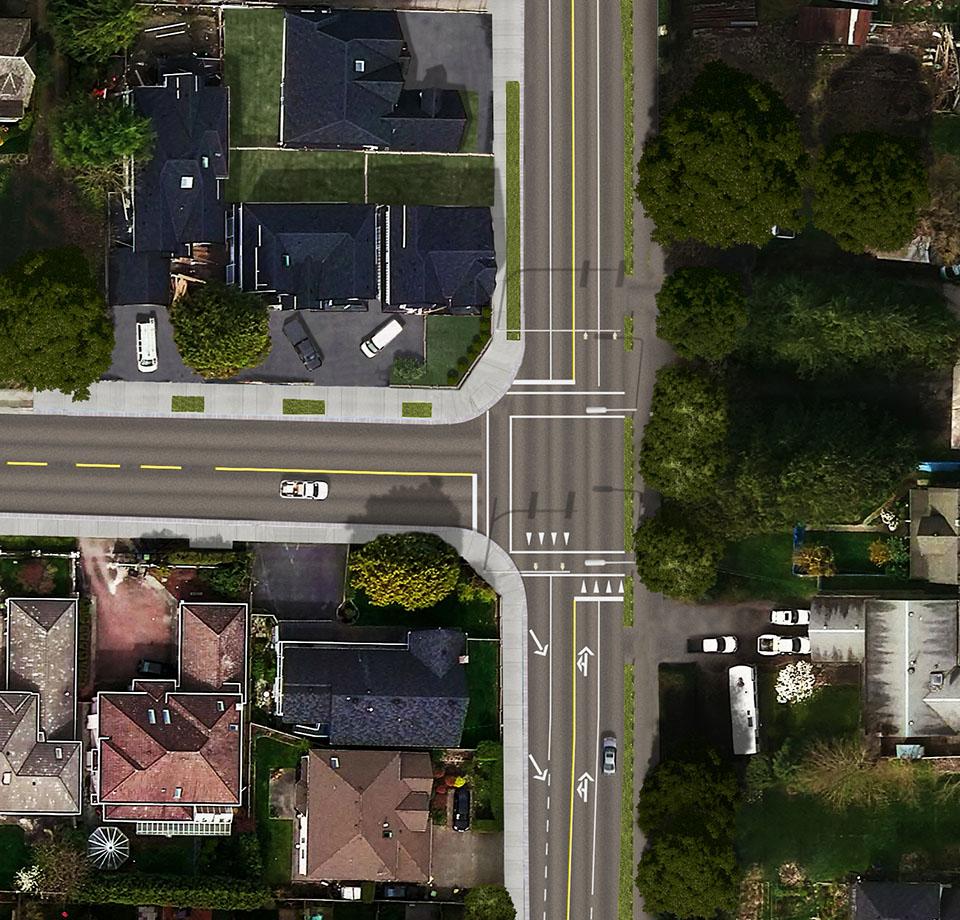 aerial road rendering