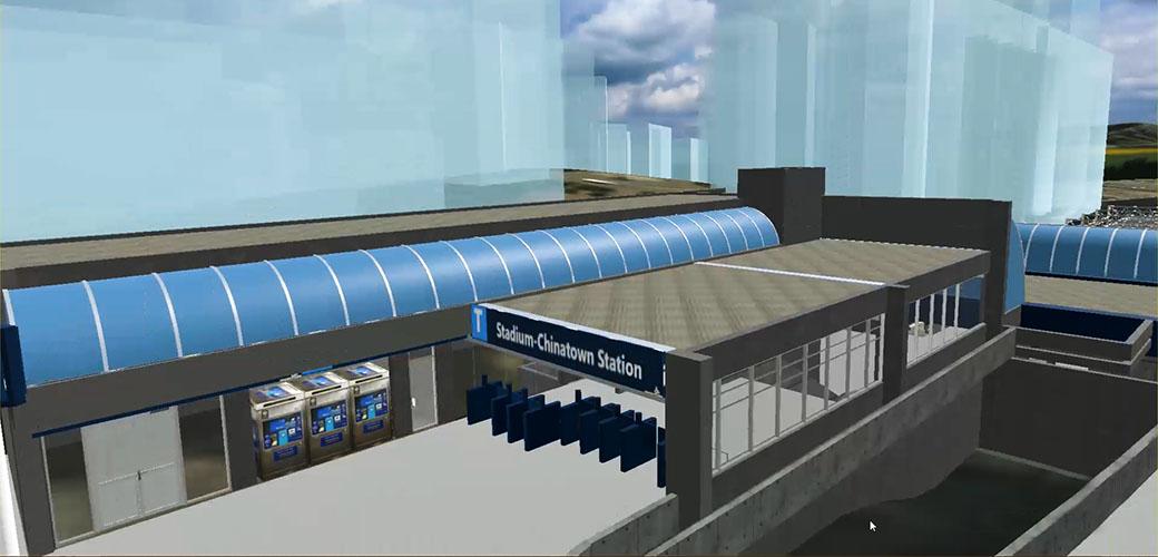 Stadium SkyTrain Station Virtual Reality