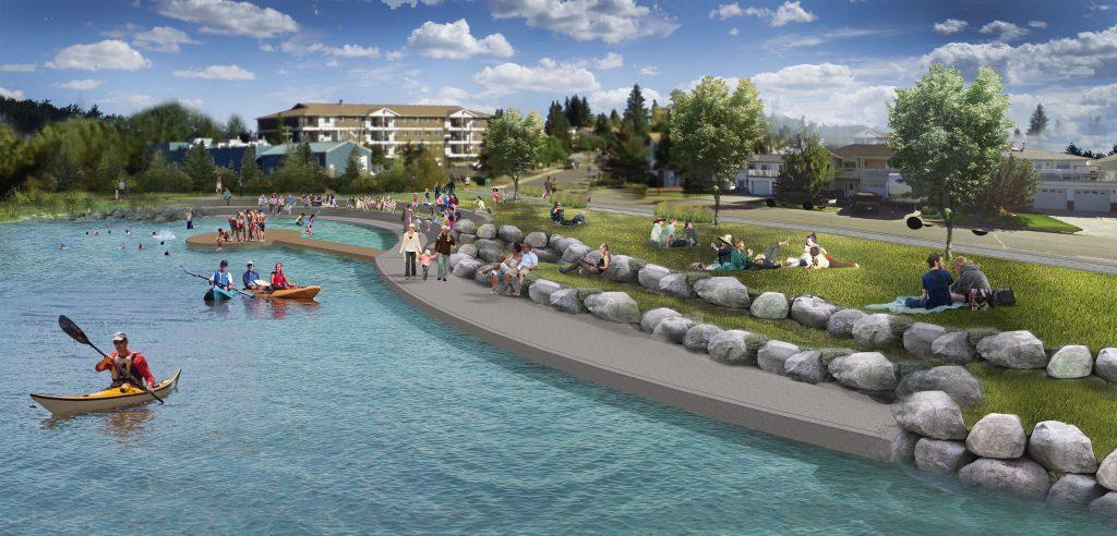 Concept illustration of the Kinosoo Beach enhancement project
