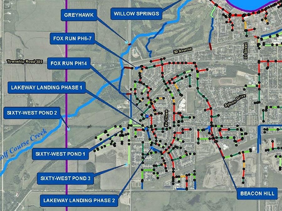 Map of Sylvan Lake Stormwater Management Plan