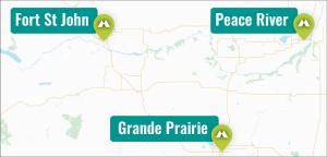 Peace Region Locations